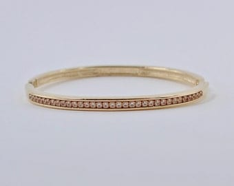 bracelet clé plate vintage gold tone swedged tinsel serpentine by 5502