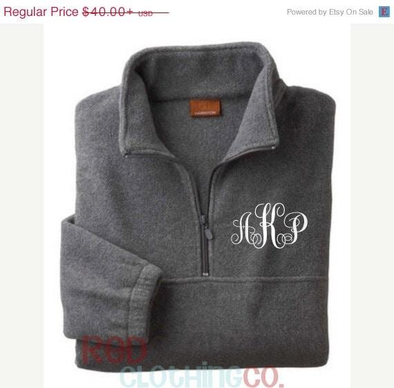 Monogrammed Fleece Pullover Monogram Fleece Jacket
