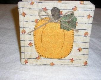 Coasters Appliqued Pumpkins