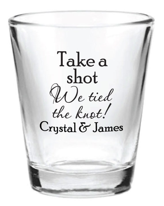 ... Custom 1.5oz Wedding Favor Glass Shot Glasses Personalized NEW Favors