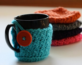 Five Mug Cozies Bundle choose any colors