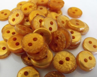 50 Burnt Orange Bumpy Round Buttons Size 7/16""