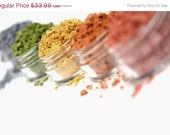 SALE Mineral Eyeshadow Makeup - YOU CHOOSE - 5 Shades - Pure & Natural Eye Color Pigments - Noella Beauty Works