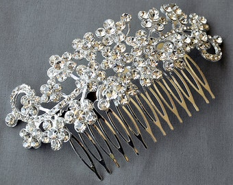 Bridal Headpiece Tiara Headband Rhinestone Hair Comb Accessory Wedding Jewelry Crystal Flower Side Tiara CM078LX