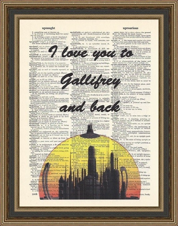 Doctor Who Quotes About Love Brilliant Doctor Who Love Quote I Love You To Gallifrey And Back