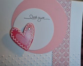 Love - set of two cards - includes envelopes