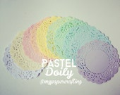 Pastel Doily paper for Scrapbooks, card making, wedding decoration / pack