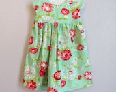 2T Blue Scrumptious Geranium Dress - JoyInTheStitches