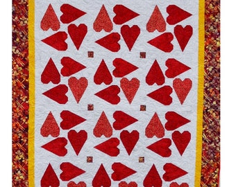 Quilt Pattern - Surrounded By Love - PDF INSTAND DOWNLOAD