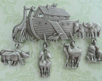 Noah's Ark Jonette Jewelry Brooch