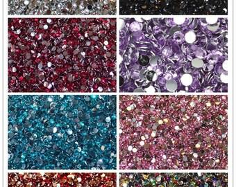 Crystal Flat Back Flatback Acrylic Rhinestones Gems 15 colors 2mm, 3mm, 4mm, 6mm