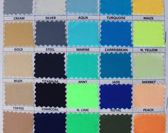 4-Way Stretch Matte Nylon Spandex Fabric By The Yard
