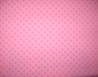 "Hot pink dots on pink 1 yard 21"" X 42"""