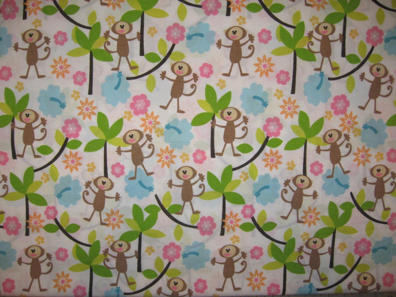 Monkey fabric related keywords monkey fabric long tail for Baby monkey fabric prints