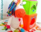 PATTERN - Crochet Unicorn, Amigurumi, Horse Pattern, Crocheted Pony, Horse, Unicorn Pattern, Instant Download, Tutorial