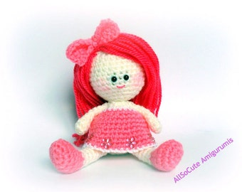 Crochet Pattern, Amigurumi Doll Pattern, Amigurumi Girl Pattern, Crochet doll pattern - Tutorial