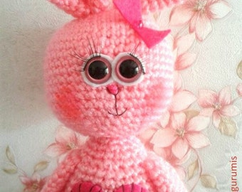 PATTERN - Bunny Pattern, Crochet Tutorial,  Instant Download
