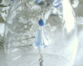 Guardian Angel Anglican Rosary Bracelet in Blue