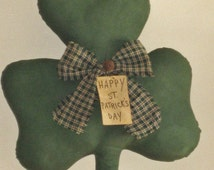 Primitive Shamrock Door Greeter - St.Patrick's Day - St.Patty's Day - Wall Hanging - Door Hanging - Home Decor - Country Primitive Decor
