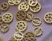 Bulk 100 pcs gold plated steampunk charms-gear charm-T0046
