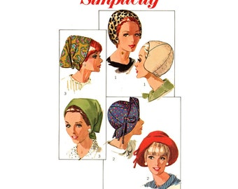 1960s Floppy Hats and Beret Pattern Simplicity 8468 by