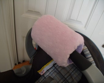 Arm Pad Reversible Carseat Canopy Minky Arm Pad Cover Only Padding Choose your colors to match your Canopy Add Monogram as well
