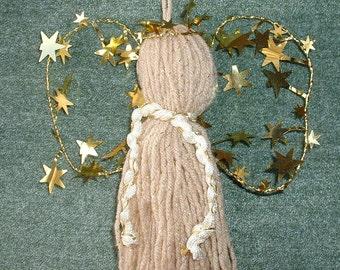 Handmade Yarn Angel Christmas Decoration for Tree/Package