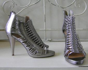 Women's Metallic Strappy Shoes