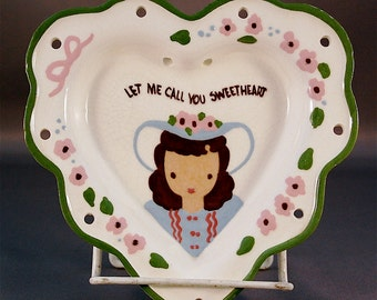 """CLEMINSON of CALIFORNIA wall hanging heart """"Let Me Call You Sweetheart"""""""