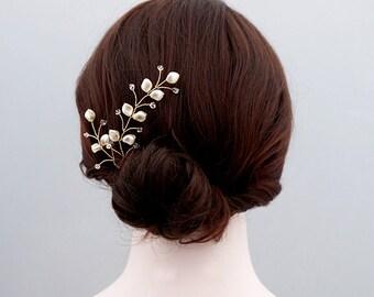 Swarovski Pearl Wedding Hair Vine, Pearl Bridal Hair Vine, Pearl Wedding Headband, Bridal Headband, Bridal Hairpece, Wedding Hairpiece.