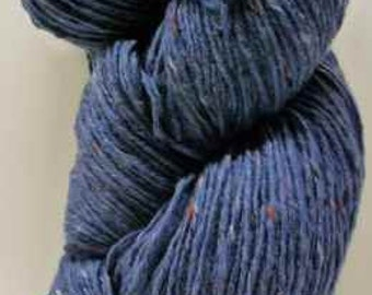 Aran Tweed Yarn (jeans blue) Irish Donegal Kilcarra Wool 7oz/200g