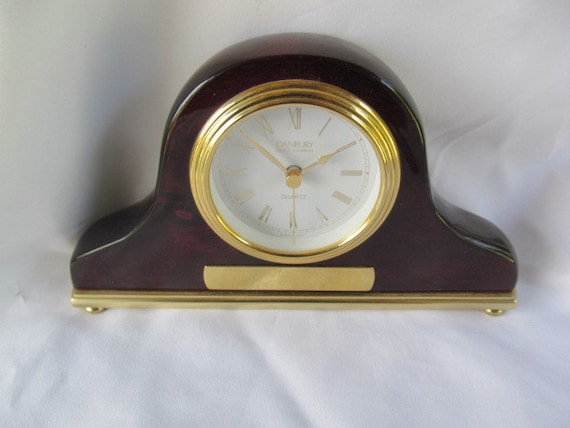 Danbury Quartz Mantel Desk Clock German Movement By