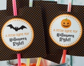 Halloween Glow Light Printable Tags: Non-Candy Treat for School or Trick or Treating