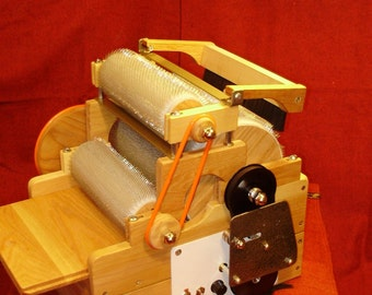 SCP Gold Series, Electric Standard Triple Wool Drum Carder 72/90/90 TPI