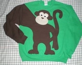 Year of the Monkey, MONKEY sweatshirt,monkey sweater, monkey jumper, CUSTOM Adults, You Choose Color and size