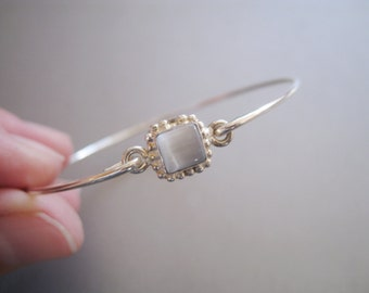 SQUARE CAT EYE bangle bracelet