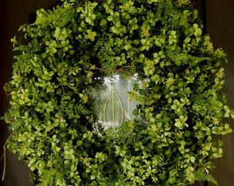 Spring Wreath , XL Wreath , Boxwood and Fern Wreath , Autumn Wreath , Door Wreath , Outdoor Wreath