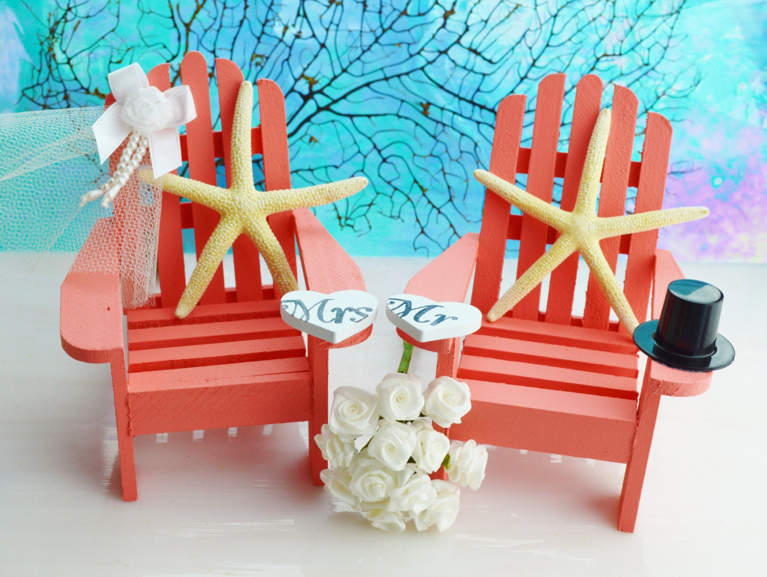 wedding cake topper mini adirondack beach chair unavailable listing on etsy 26354