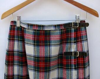 Red Kilt Skirt