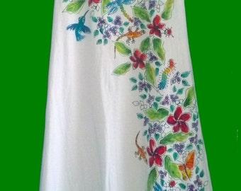 Tropical Flowers Sleeveless Dress for Women