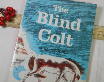 1960 The Blind Colt - Cowboy Sketched Illustrations - Chapter Book