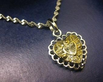 heart, gold heart, heart necklace, love heart, love jewelry, heart charm, heart pendant, heart charm necklace, gold necklace, gold jewelry