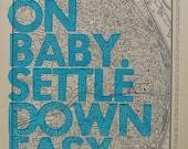 Saint Louis  / Ramble On Baby. Settle Down Easy. / Letterpress Print on Antique Atlas Page
