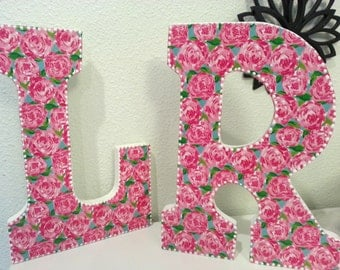 Lilly Pulitzer Inspired Letters -YOU PICK A-Z- and & Cut Out Wall Art You Pick Pattern by Mama Duck Creations