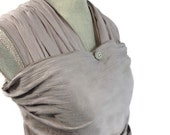 Baby Sling Woven Wrap Carrier Gauze Gray Grey Cotton