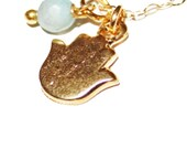Hamsa necklace, Hamsa charm necklace, evil eye charm, evil eye, Ruby, gold filled Hamsa, hamsa charm