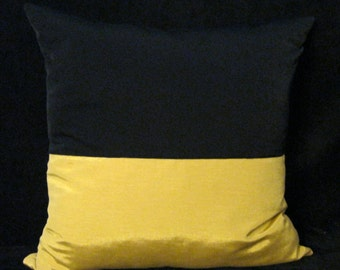 Gold black pillow cover 24 X 24