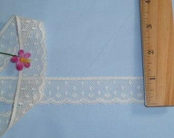 Ivory Cotton Lace Trim/Edging - 5 Yard Listing