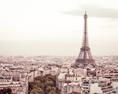 "Paris Decor, fine art travel photograph of Eiffel Tower in Paris, French decor - ""De Bon Matin"""