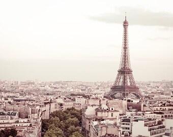 """Paris Decor, fine art travel photograph of Eiffel Tower in Paris, French decor - """"De Bon Matin"""""""